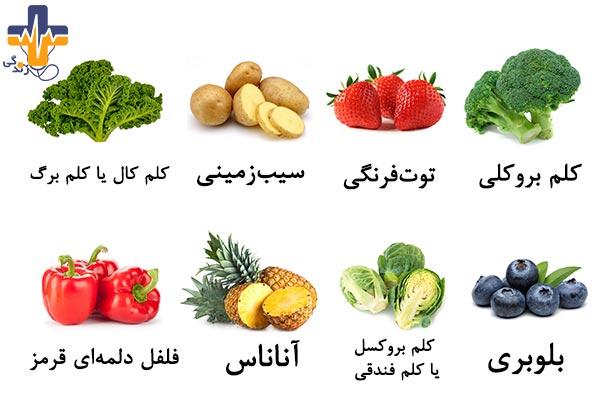 مواد غذایی حاوی ویتامین ث