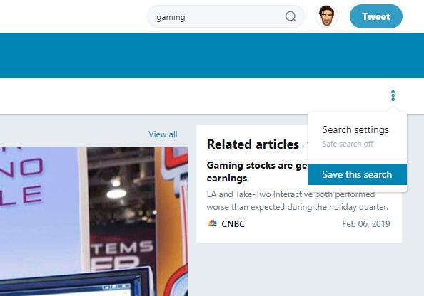 آموزش حذف جستوجوهای ذخیره شده توییتر