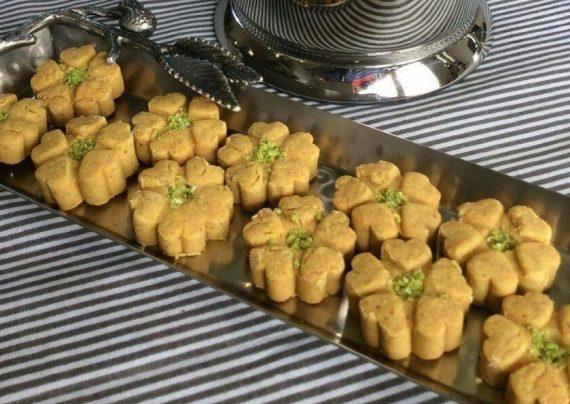 تصویر از طرز تهیه شیرینی نخودچی بدون فر