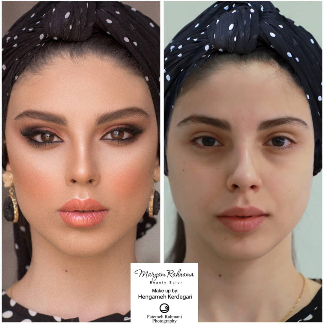 تصویر از آموزش آرایش اسموکی توسط مریم رهنما