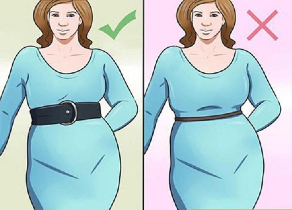 تصویر از نحوه ست کردن لباس برای کسانی که شکم و پهلوی بزرگ دارند