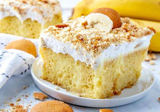 تصویر از طرز تهیه کیک خیس موز و گردو؛ خوشمزه و نرم